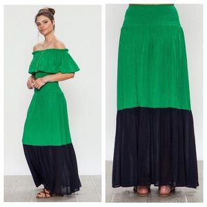 Dresses & Skirts - Coming! Two-Tone Gauze Maxi Skirt